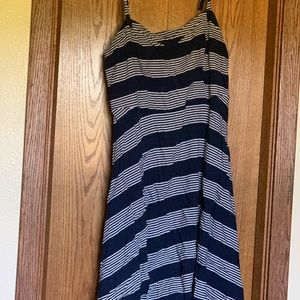 Torrid blue striped dress